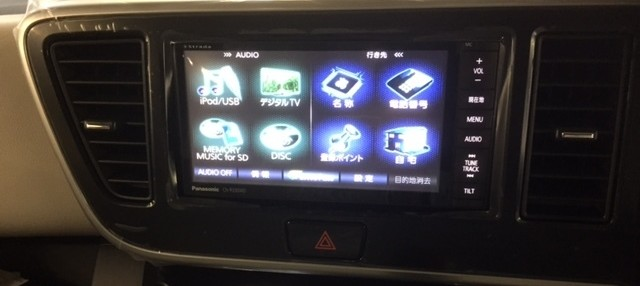 デイズルークス:日産 CN-R330WD(パナソニック)を装着! アラウンドビューも変換。カーナビゲーション取付
