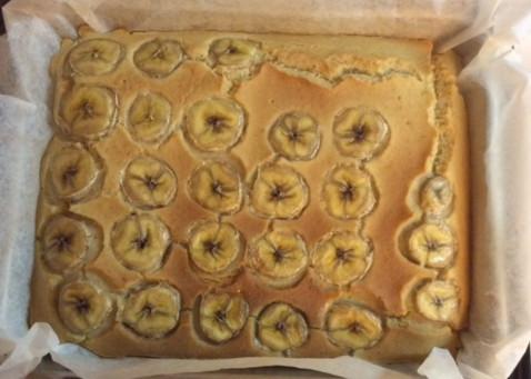 砂糖不使用のバナナケーキ! レシピはコチラ。ほんのり感じるバナナの甘みが美味しい。