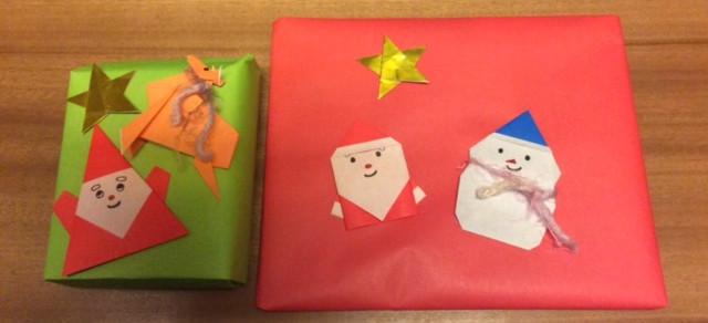 【O・MO・TE・NA・SHI】折り紙でクリスマスのラッピング。キャラクターもあるよ。