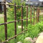 DIYで柵をサクサクっと自作しよう。強敵!いぼ結び。竹を格子状に組む。