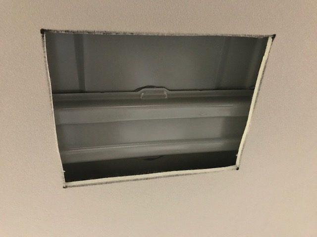 天井をカット
