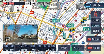 地図画面とリンク