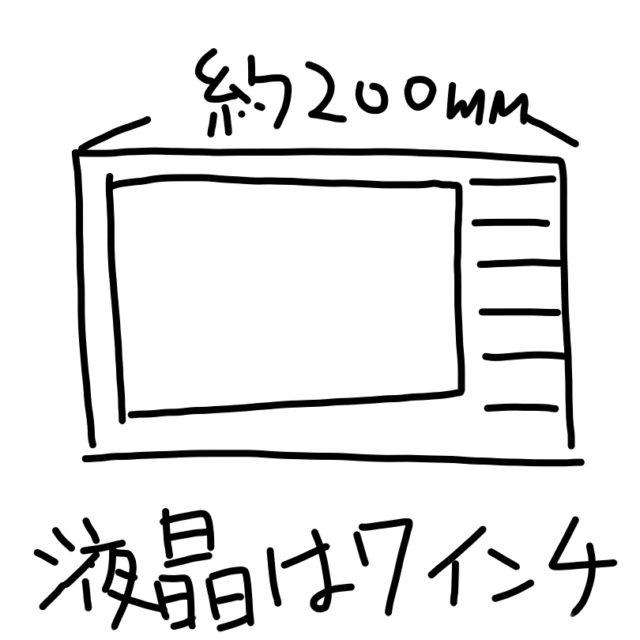 200mmのワイドモデルカーナビ