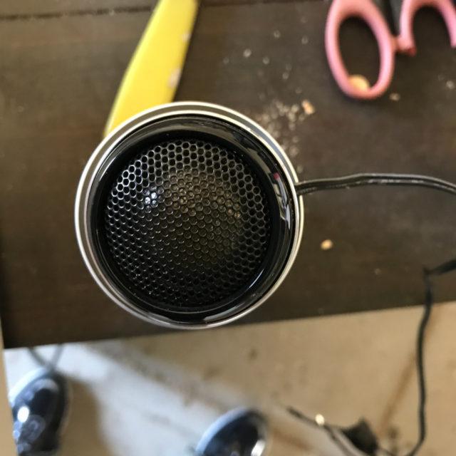 空き缶とツイーターの径が一緒