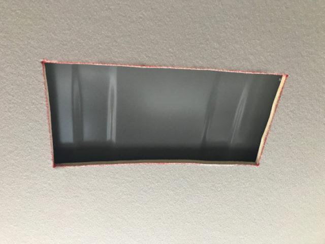 天井カット終了